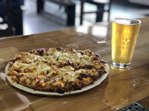 NOW SERVING PIZZAS IN OUR TAPROOM ALONG WITH OTHER BEER FRIENDLY BITES, INCLUDING VON HANSEN PRETZELS, JOJO JERKY AND OTHER ROTATING SNACKS.  OUR MENU IS SLOWLY EXPANDING, SO CHECK BACK OFTEN!  FOOD TRUCKS ON-SITE DURING WARMER MONTHS. PLEASE SEE OUR CALENDAR TO SEE OUR EVENTS CALENDAR.